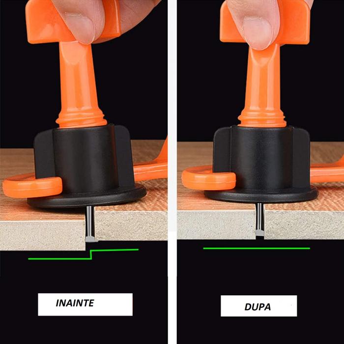 Set 50 tije metalice refolosibile, pentru rost de la 1.5 mm, sistem nivelare gresie si faianta [8]