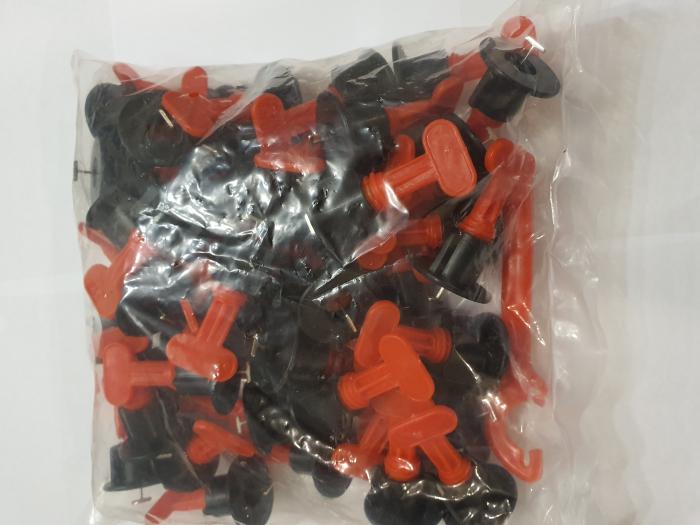 Set 50 tije metalice refolosibile, pentru rost de la 1.5 mm, sistem nivelare gresie si faianta [7]