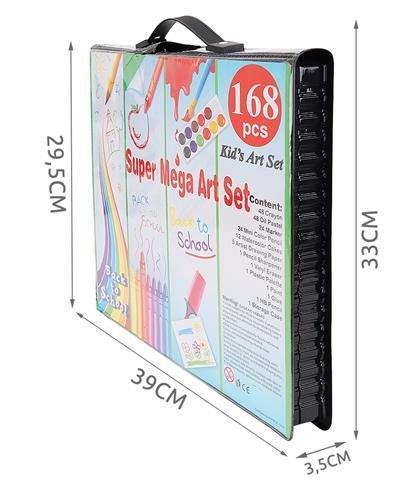 Set Complet pentru Desenat si Pictat, 168 de Elemente, multicolor [7]