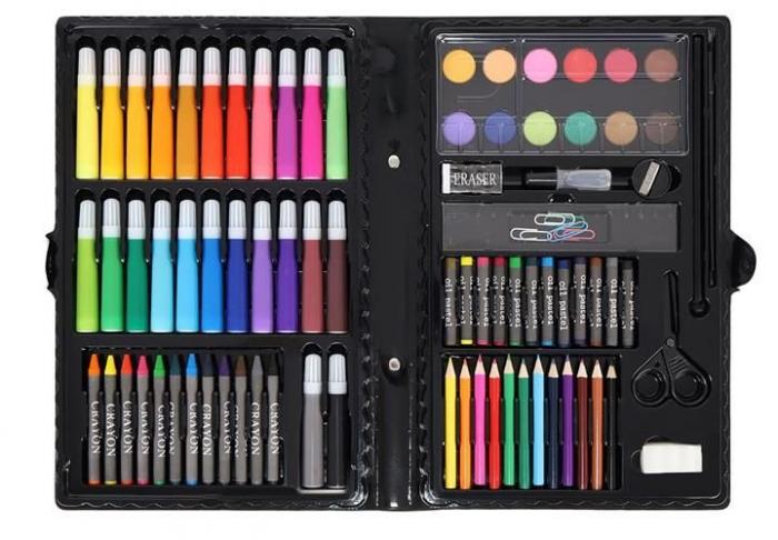 Set Complet pentru Desenat si Pictat, 86 de Elemente, Multicolor [3]