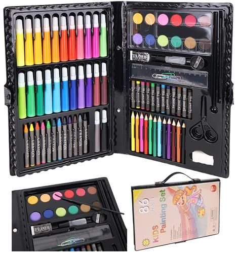 Set Complet pentru Desenat si Pictat, 86 de Elemente, Multicolor [0]