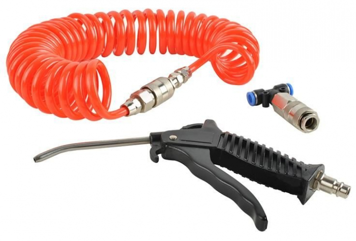 Pistol aer Cabina,set din 3 piese pentru compresor si aer comprimat, lungime furtun 5m [7]