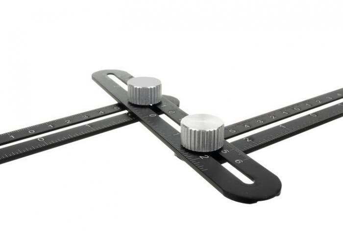 Sistem pliabil sablon din  aluminiu trasare gauri placi ceramice 3x300mm [4]