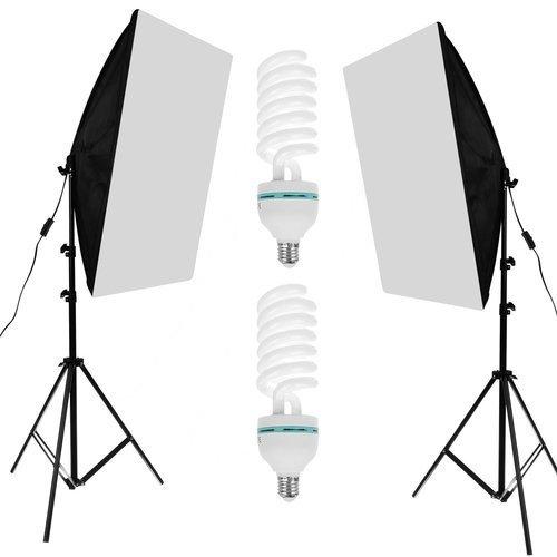Softbox pentru Studio Foto cu Suport Trepied Reglabil 80-200cm 50x70cm  set 2 bucati +2 becuri 150w incluse [0]