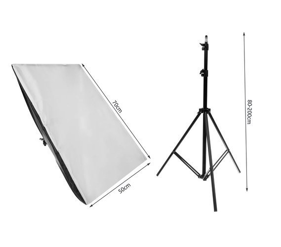 Softbox pentru Studio Foto cu Suport Trepied Reglabil 80-200cm 50x70cm  set 2 bucati +2 becuri 150w incluse [14]