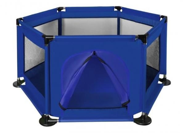 Spatiu de joaca tarc pentru copii tip piscina pliabil dimensiune 115x65 cm culoare Albastru inchis [5]