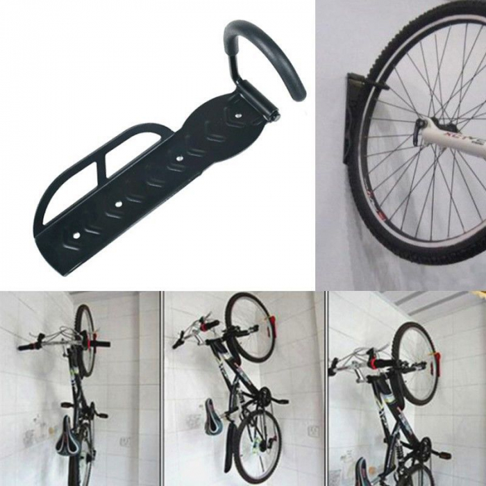Suport bicicleta de perete depozitare prindere carlig din otel maxim 25 kg  accesorii incluse 1buc 2