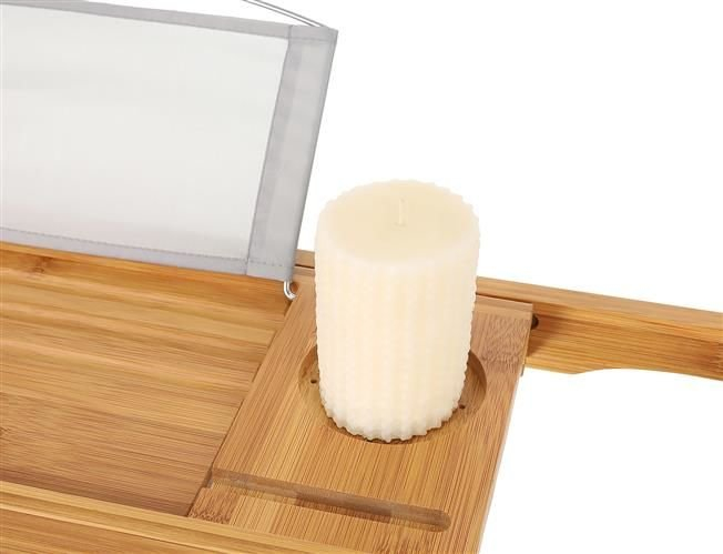 Suport extensibil cada, bambus, 75-112 cm [8]