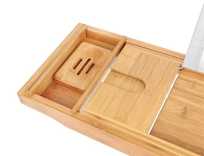 Suport extensibil cada, bambus, 75-112 cm [6]