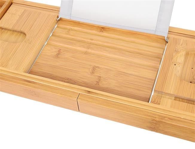 Suport extensibil cada, bambus, 75-112 cm [5]
