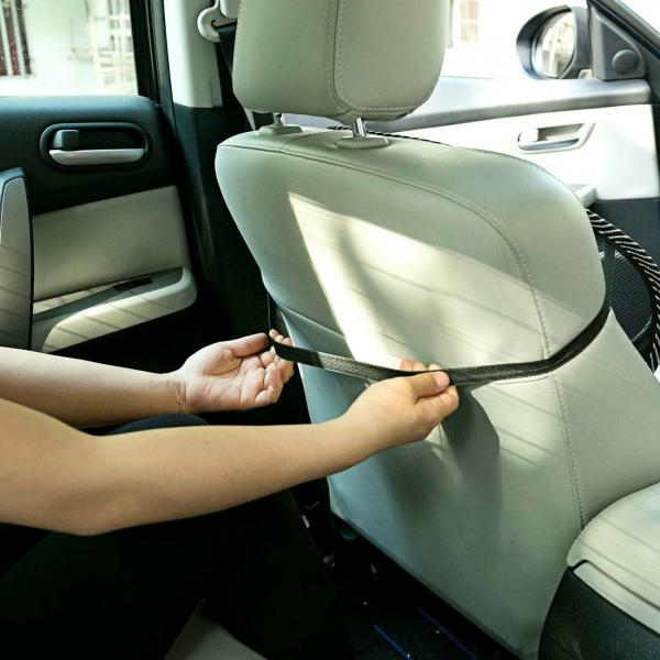 Suport lombar pentru scaun birou si auto cu bile masaj prindere cu benzi elastice 9