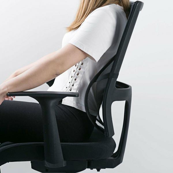 Suport lombar pentru scaun birou si auto cu bile masaj prindere cu benzi elastice 8