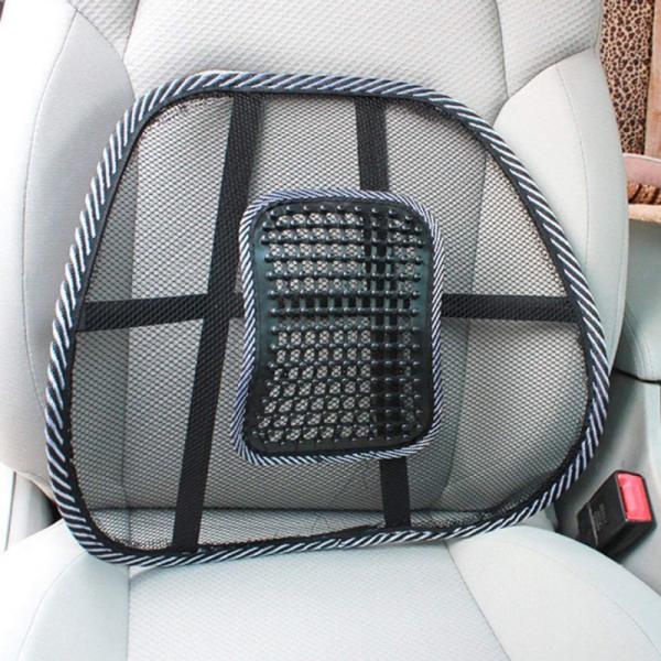 Suport lombar pentru scaun birou si auto cu bile masaj prindere cu benzi elastice 3