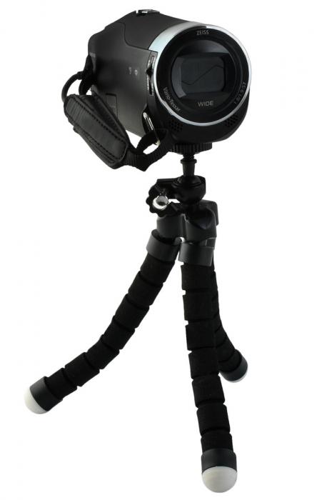 Suport Telefon Trepied Pentru Birou Tripod Selfie Camere Tablete Flexibil Negru 9