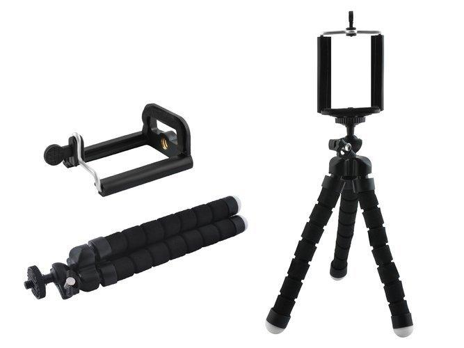 Suport Telefon Trepied Pentru Birou Tripod Selfie Camere Tablete Flexibil Negru 1