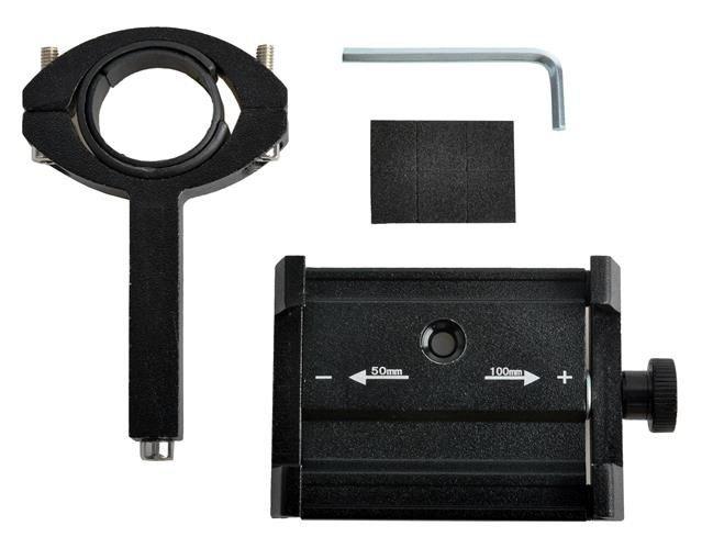Suport telefon pentru bicicleta,Malatec universal, reglabil 50-100 mm, aluminiu [8]