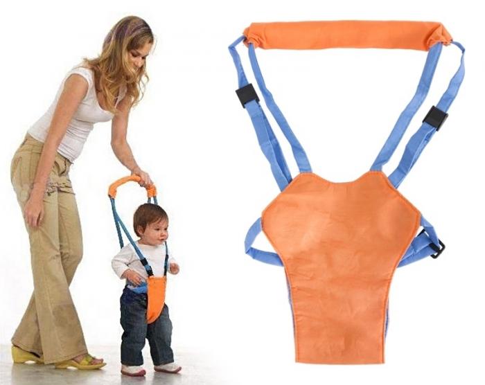 Suport tip ham ajutator, premergator copii, portocaliu-albastru 0