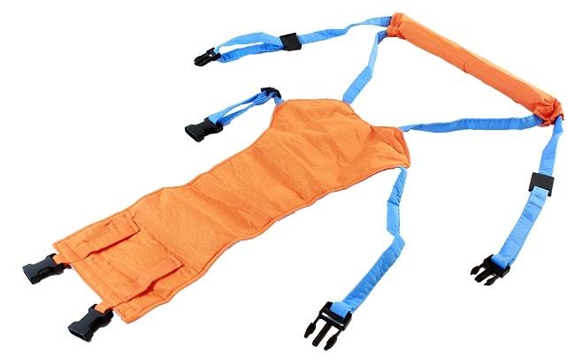 Suport tip ham ajutator, premergator copii, portocaliu-albastru 1
