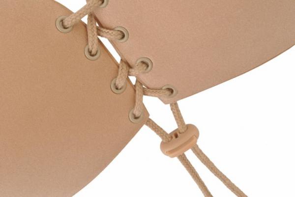 Sutien invizibil cu push-up si parte adeziva, fara bretele, culoare Bej, marime C 3