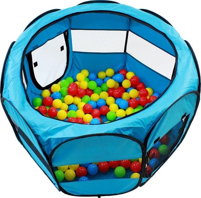Tarc De Joaca Pliabil Pentru Copii, Acoperis Detasabil, Diametru 90cm, culoare albastra [1]