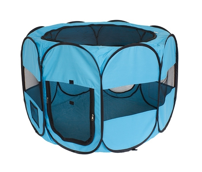Tarc De Joaca Pliabil Pentru Copii, Acoperis Detasabil, Diametru 90cm, culoare albastra [0]