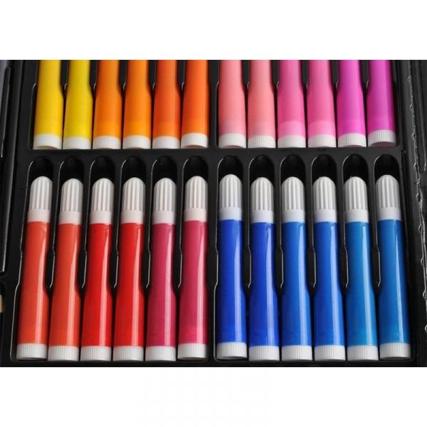 Trusa desen si pictura pentru copii, 258 piese, acuarele, creioane, pensule, carioci, valiza depozitare 5