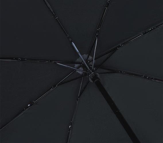 Umbrela  pliabila automata deschis/inchis cu buton neagra complet 110cm diametru, articulatii anti-vant 4