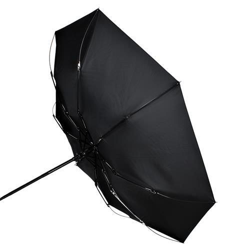 Umbrela  pliabila automata deschis/inchis cu buton neagra complet 110cm diametru, articulatii anti-vant 8