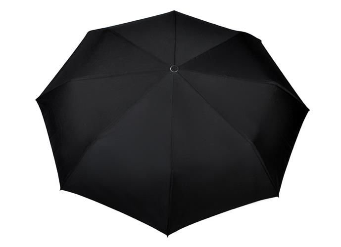 Umbrela  pliabila automata deschis/inchis cu buton neagra complet 110cm diametru, articulatii anti-vant 3