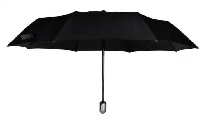 Umbrela  pliabila automata deschis/inchis cu buton neagra complet 110cm diametru, articulatii anti-vant 0