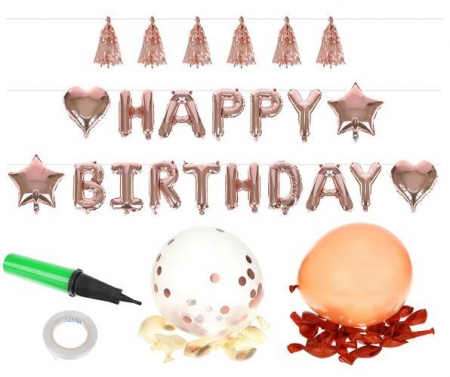 Accesorii ziua de nastere - Set - Happy Birthday, Balon Petrecere de aniversare [0]