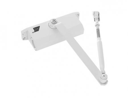 Amortizor hidraulic pentru usa, 40-60 kg,reglare dubla aluminiu alb [3]