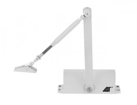 Amortizor hidraulic pentru usa, 40-60 kg,reglare dubla aluminiu alb [4]
