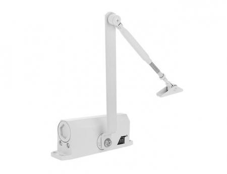 Amortizor hidraulic pentru usa, 40-60 kg,reglare dubla aluminiu alb [5]