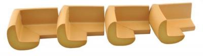 Aparatori moi pentru colturi masa forma L camera copilului,culoare maro set/4buc2