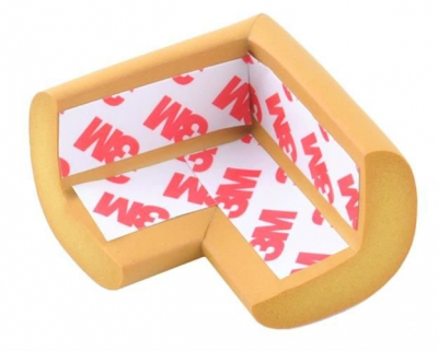 Aparatori moi pentru colturi masa forma L camera copilului,culoare maro set/4buc6