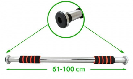 Bara de tractiuni cu fixare pe usa din otel 61-100cm telescopica 100 kg [3]