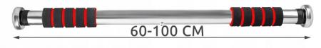 Bara tractiuni telescopica cu prindere pe usa, 61-100 cm, otel [2]