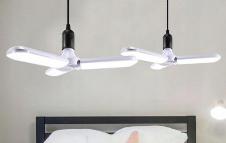 Bec LED pliabil  tip candelabru cu trei brate E27 45W 6500K [9]