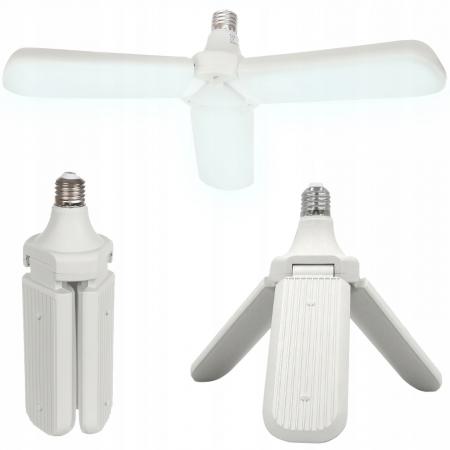 Bec LED pliabil  tip candelabru cu trei brate E27 45W 6500K [0]