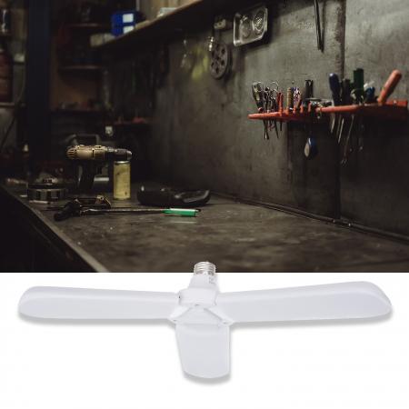 Bec LED pliabil  tip candelabru cu trei brate E27 45W 6500K [8]