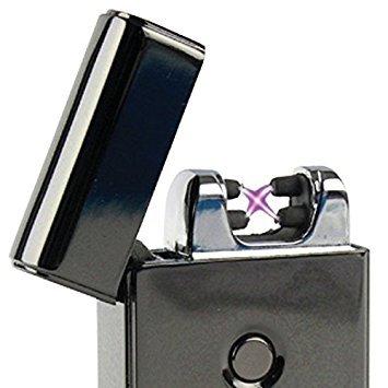 Bricheta electrica antivant, 5V, incarcare USB, Neagra cutie cadou inclusa [1]