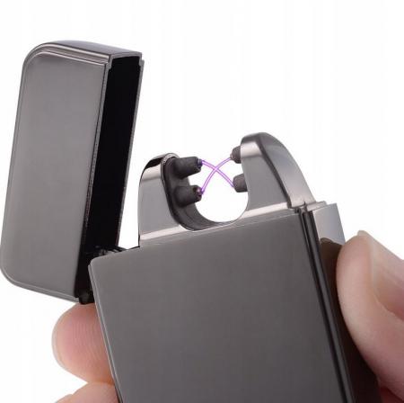Bricheta electrica antivant, 5V, incarcare USB, Neagra cutie cadou inclusa [2]
