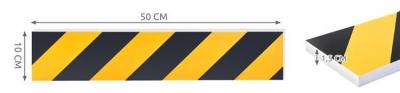 Burete de protectie a usilor de masina reflectorizant 10x50 cm pentru garaj 10 bucati8