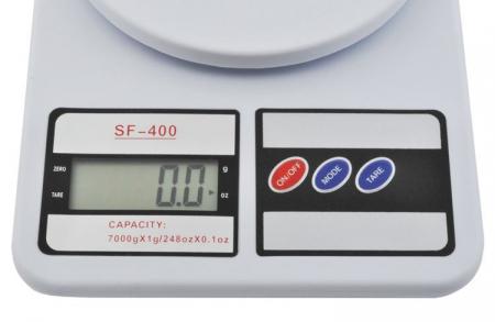 Cantar de bucatarie afisaj LCD 0.6 inch functie Tara capacitate maxima 7 kg [1]