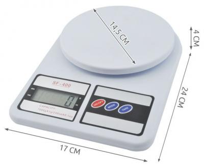 Cantar de bucatarie afisaj LCD 0.6 inch  functie Tara  capacitate maxima 7 kg cu ambalaj deteriorat Resigilat! [5]