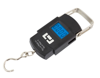 Cantar de Mana Portabil Digital, Capacitate 50kg pentru pescuit sau bagaje, senzor de temperatura [0]