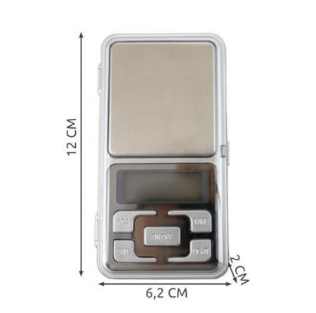 Cantar Electronic Mini 200g, Precizie de 0,1 g cu Functie Tara [3]