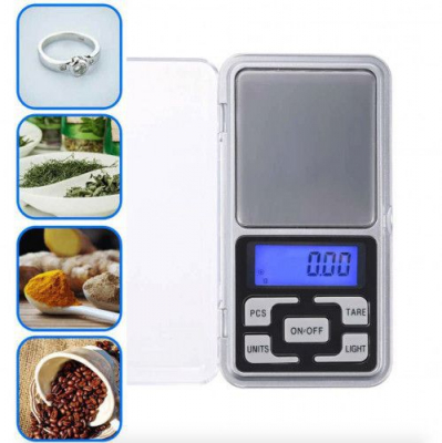 Cantar Electronic Mini  500g, Precizie de 0,1 g cu Functie Tara [3]