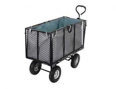 Carucior transport gradina 350 kg,roti pline PU maner reglabil,rabatabil  husa capacitate 250 litri Malatec2